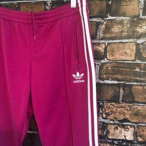 Adidas Fuschia Side Zip Pants